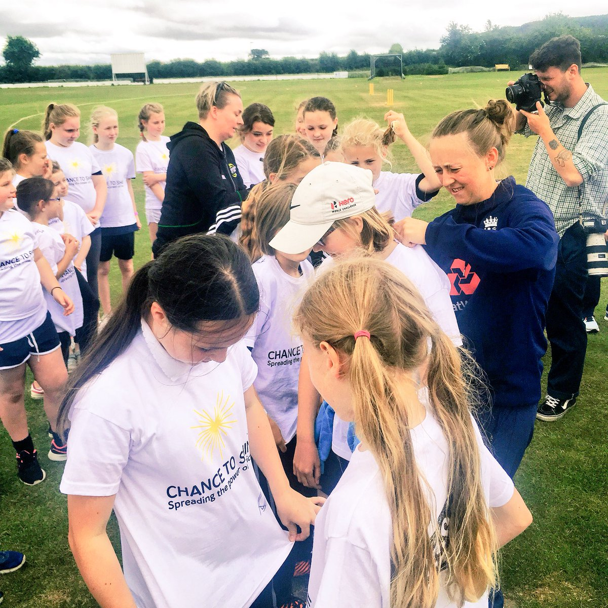 test Twitter Media - We had a brilliant day today celebrating #nationalcricketweek with @Chance2Shine & @YorkshireTea! 4 lucky schools got the chance to meet @fwilson07, @B_Langers92 & @WesternStormKSL's @rachelpriest13 - a great day had by all! 🏏💪🏻☀️ https://t.co/VAsRuDxzwM