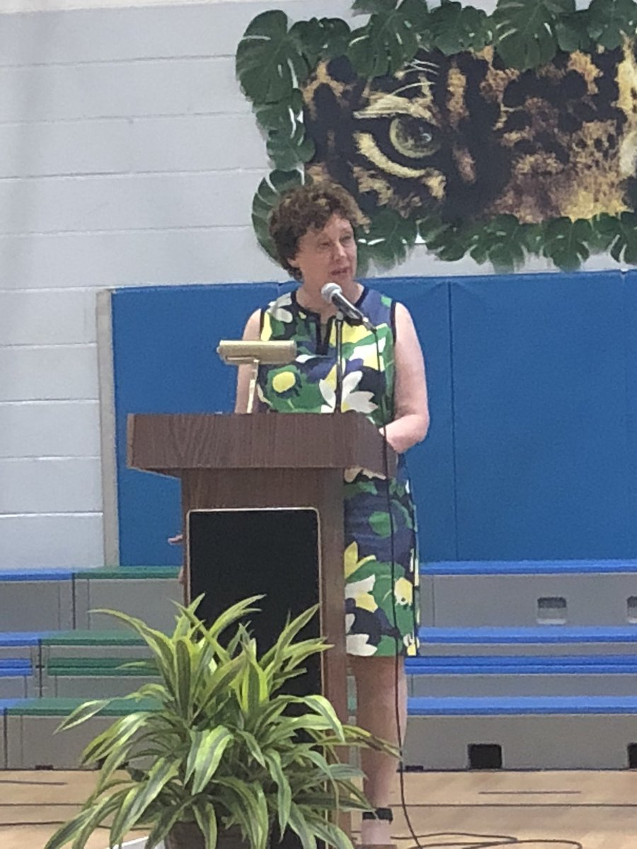Ms. Schaffner giving her last farewell at Jamestown. We can't thank her enough for her love and dedication to the students and staff at Jamestown. <a target='_blank' href='https://t.co/3L1L3j4G6O'>https://t.co/3L1L3j4G6O</a>