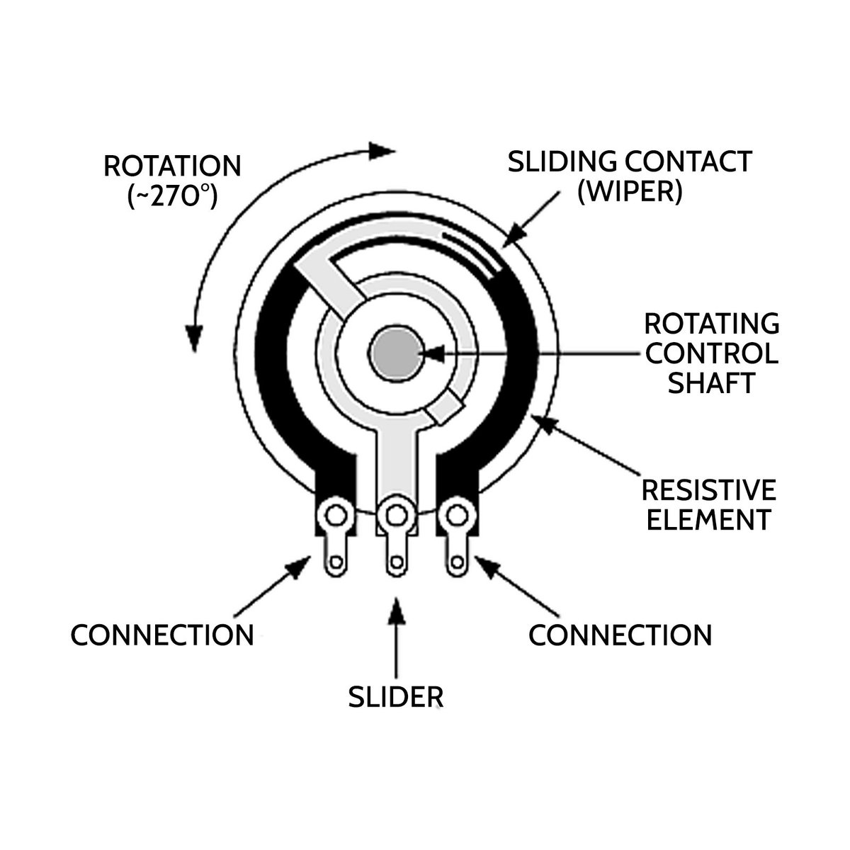 radio shack rheostat diagram