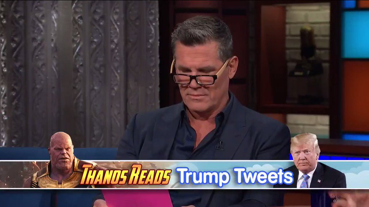 Thanos reads out Trump's tweets and of course it works