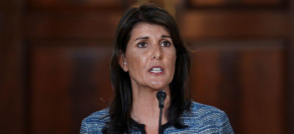 Embajadora estadounidense ante la ONU, Nikki Haley