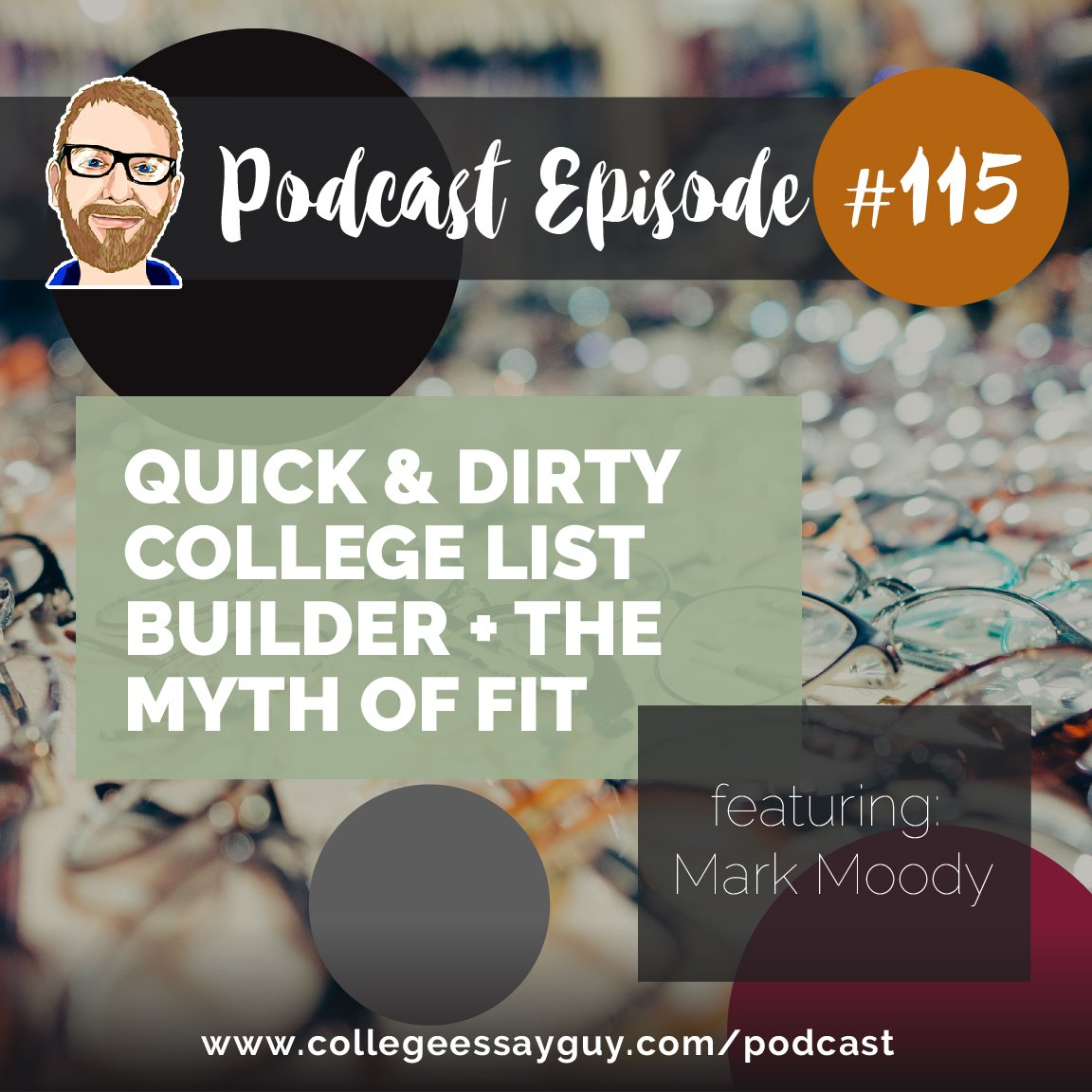 On this episode, I speak with Mark Moody, a friend of mine and a fantastic counselor with a ton of experience and some cool opinions about college admissions you may not have heard before. 🎧 Listen: goo.gl/ejaJXq