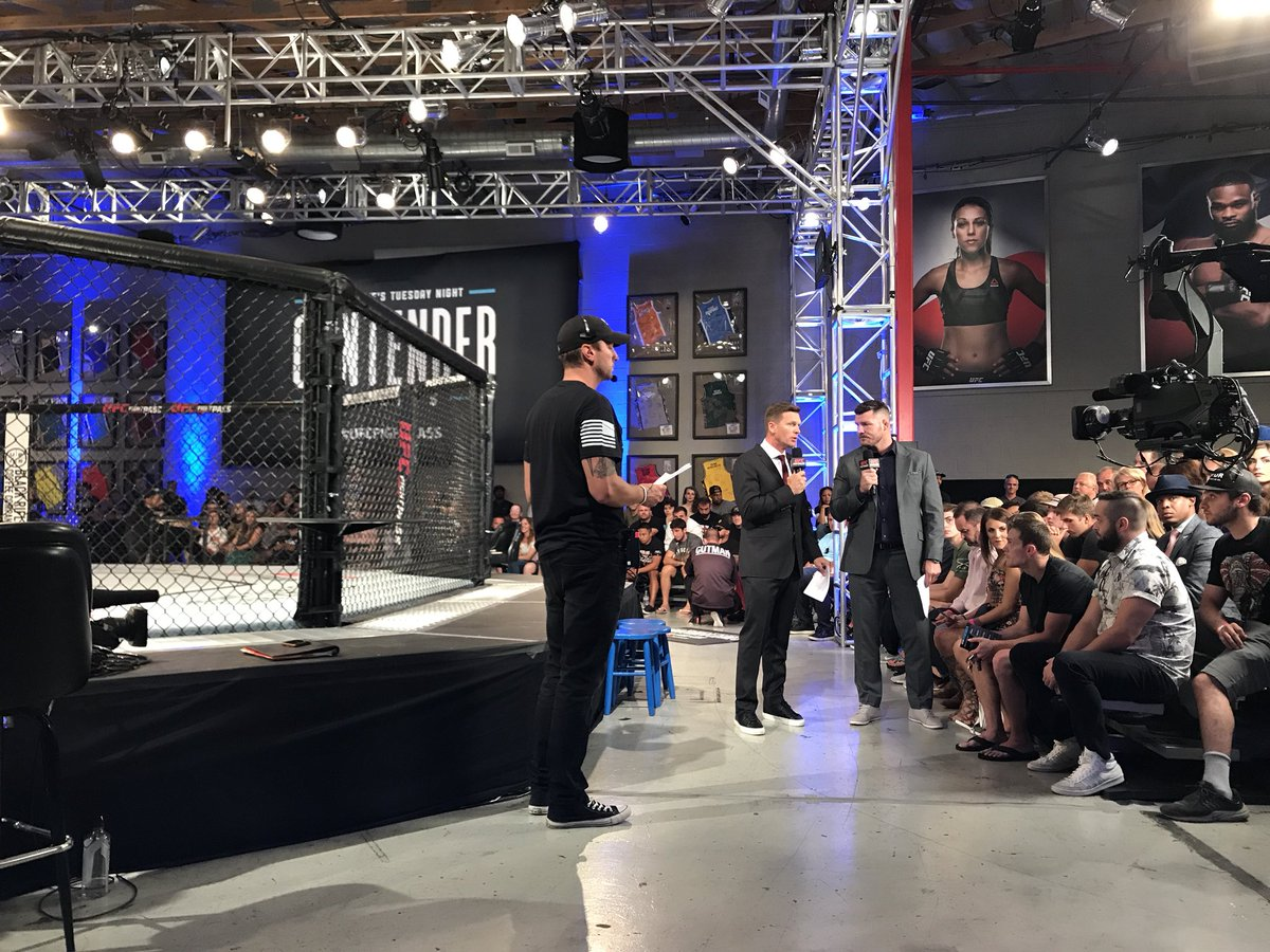 I'm at Dana White Tuesday Night Contender Series again tonight in Vegas. Yair Rodriguez is among those in attendance, sitting not far from UFC execs. He moved to Vegas recently.