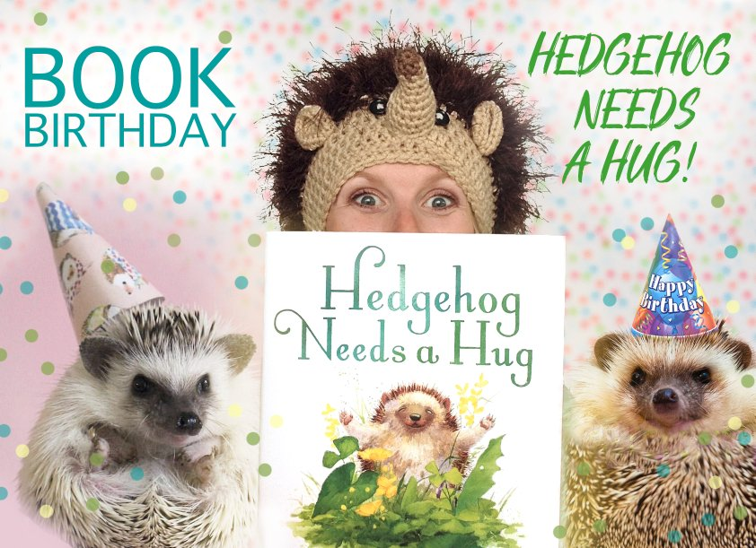 It&#39;s a Book Birthday!!!! HOORAY!!! Let&#39;s celebrate with some giveaways! I&#39;ll give away 3 copies of HEDGEHOG NEEDS A HUG - Retweet by 6/22 for a chance to win!! #bookbirthday #giveawayalert #HedgehogNeedsaHug #hedgielove @KidLitArtists #epic18<br>http://pic.twitter.com/cWDiL2dEOU
