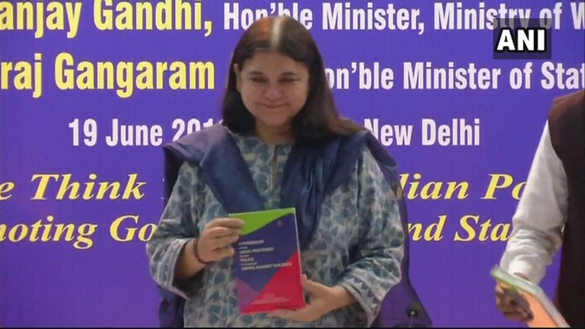 Union Minister for Women & Child Development Maneka Gandhi launched the 'Handbook on the Legal Processes for the Police in respect of Crimes against Children' yesterday in Delhi.