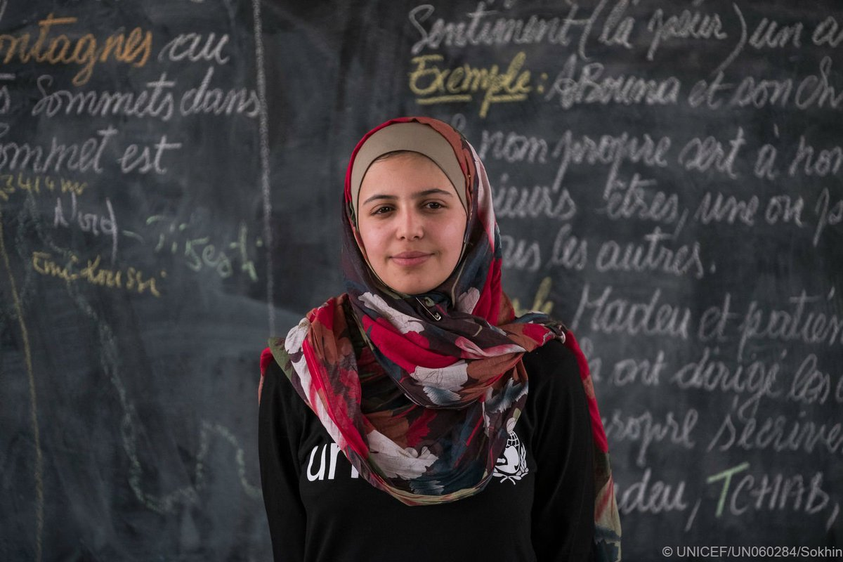 Activist. Refugee. Game changer. A year ago today, we appointed our youngest-ever Goodwill Ambassador @muzoonrakan1. We are so proud to have you on our team & of your work to champion education for children around the world. #AChildIsAChild #WorldRefugeeDay