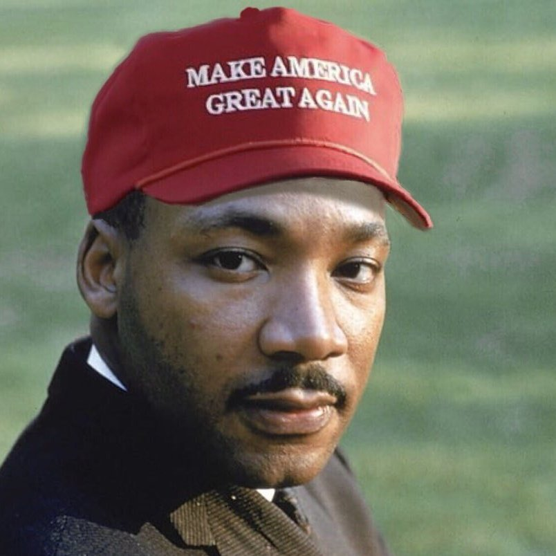 Image result for MLK MAGA Hat