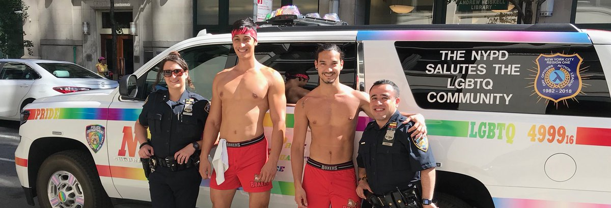 Have You Seen Us Today Our Pride Mobile Has Crisscrossed Manhattan All Day Our Nypdoutandproud Officers Have Met So Many New Friends Excited For This
