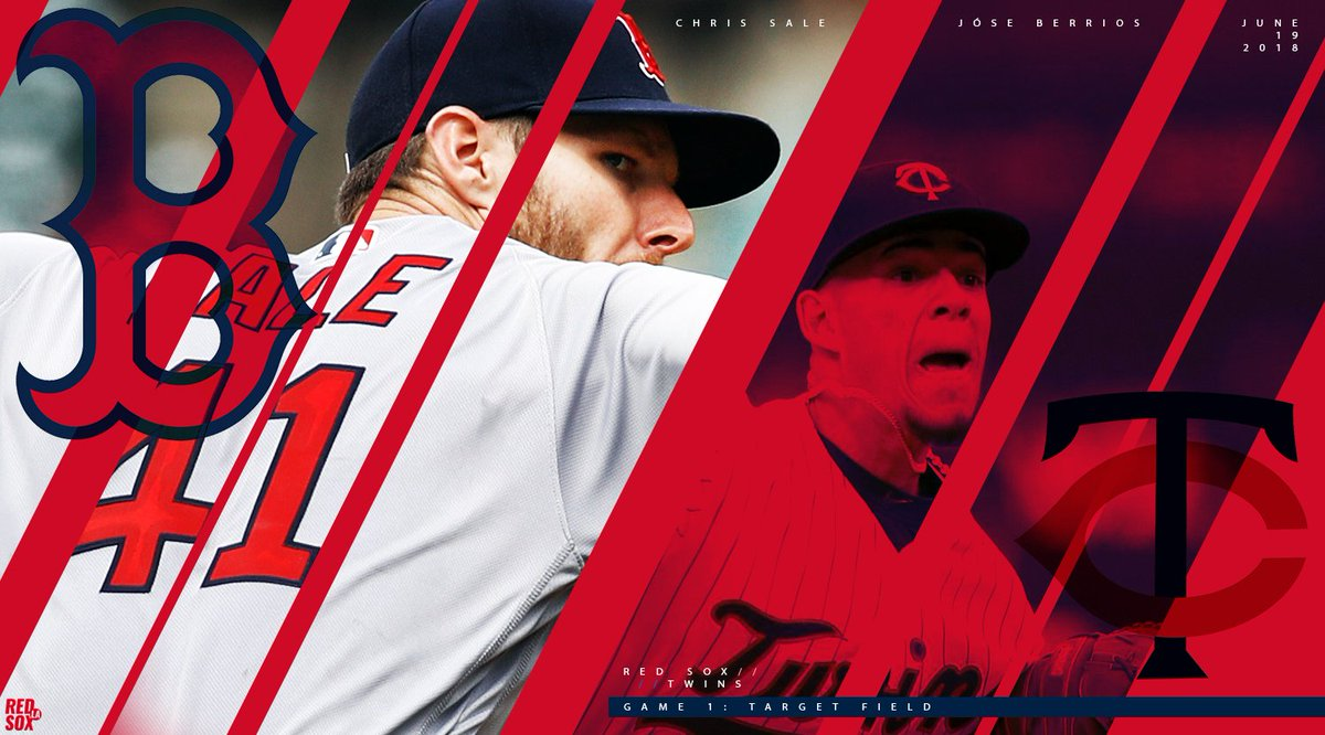 #REDSOX // TWINS // GAME 1 #ChrisSale takes the mound against Jose Berrios and the Minnesota Twins. #LetsGoRedSox #RedSoxNation #SaleDay<br>http://pic.twitter.com/20fLiaMDGw