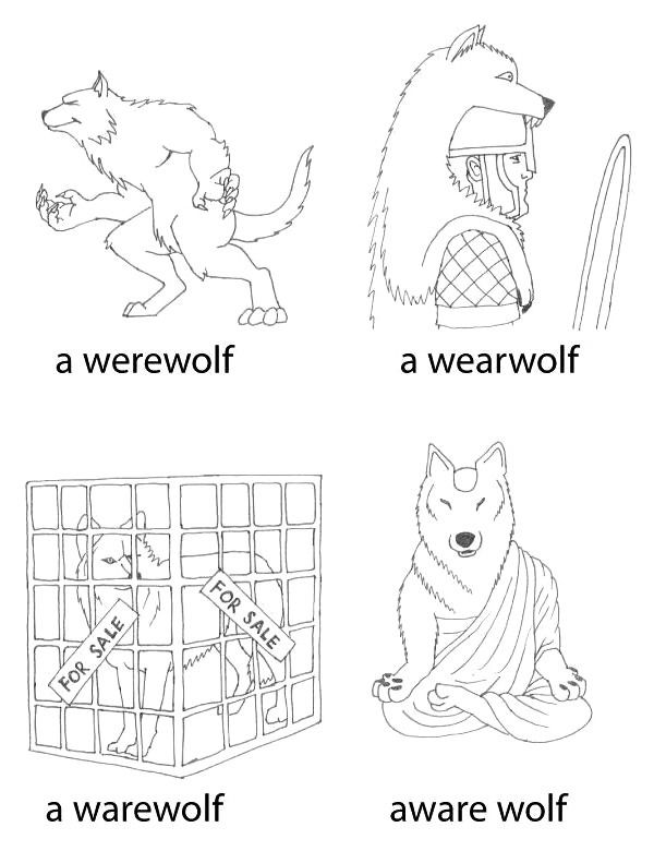 """A person who turns into a wolf 👨🏻🌕🐺 is a WEREWOLF, not a """"warewolf,"""" """"wearwolf,"""" or """"wherewolf."""""""