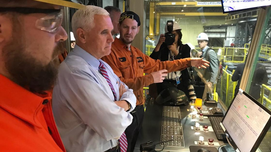 Vice President Pence greeted by protesters at Nucor Steel in Auburn
