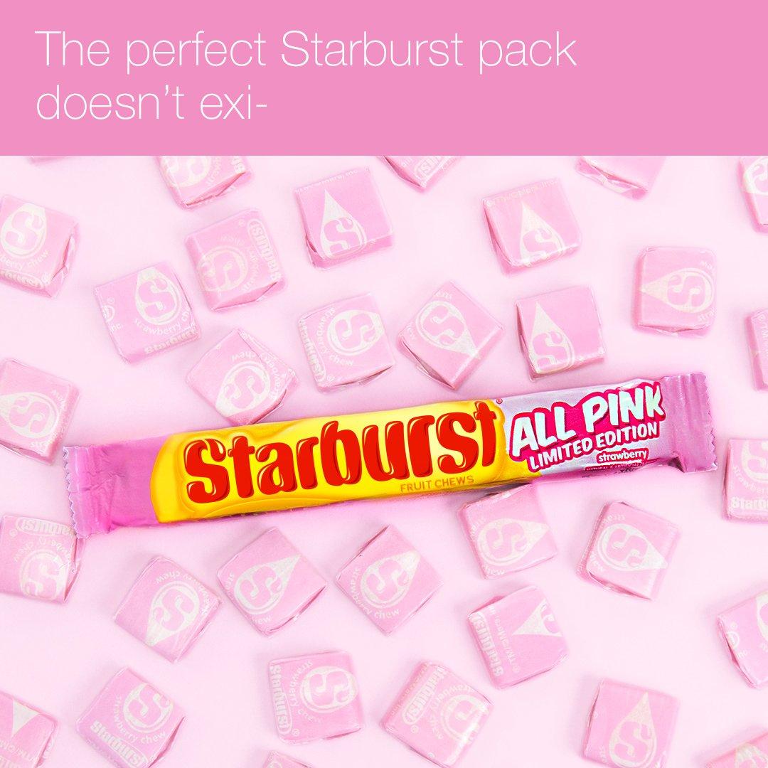 The All Pink Starburst pack is back! Dreams do come true. #PinkStarburst https://t.co/V0HzMPjmiC