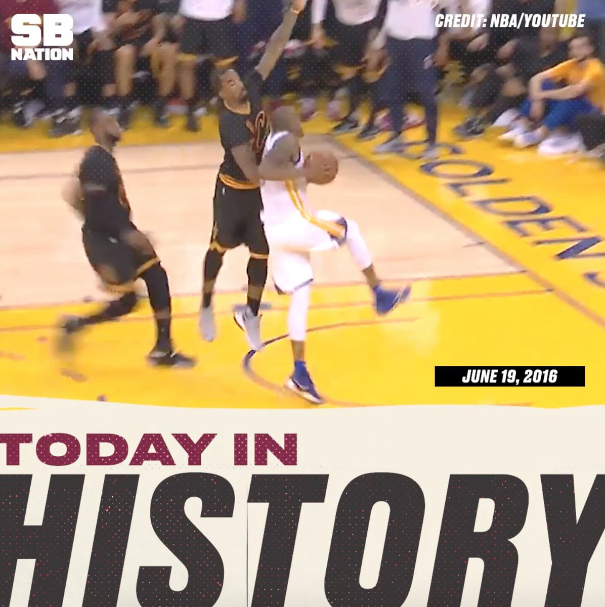 Two years ago today: LeBron James, Andre Iguodala, and the NBA Finals. You know the rest:
