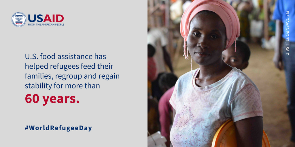 Did you know that @USAIDFFP is the largest provider of emergency food assistance to #refugees? Take a look at how we're helping people recover & regain stability in 28 countries:   https://t.co/mgAQKj7vtY#WorldRefugeeDay#USAIDTransforms