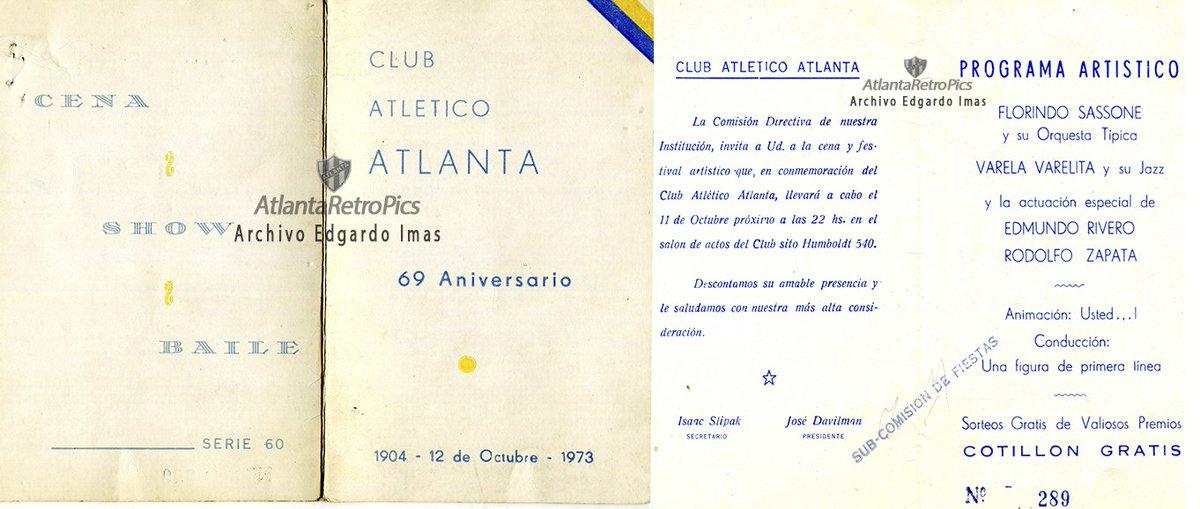 Atlantaretropics On Twitter 1973 Tarjeta De Invitación A