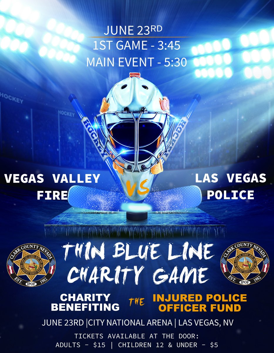 Lvmpd On Twitter Your Lasvegas Police Hockey Team Is Hosting A