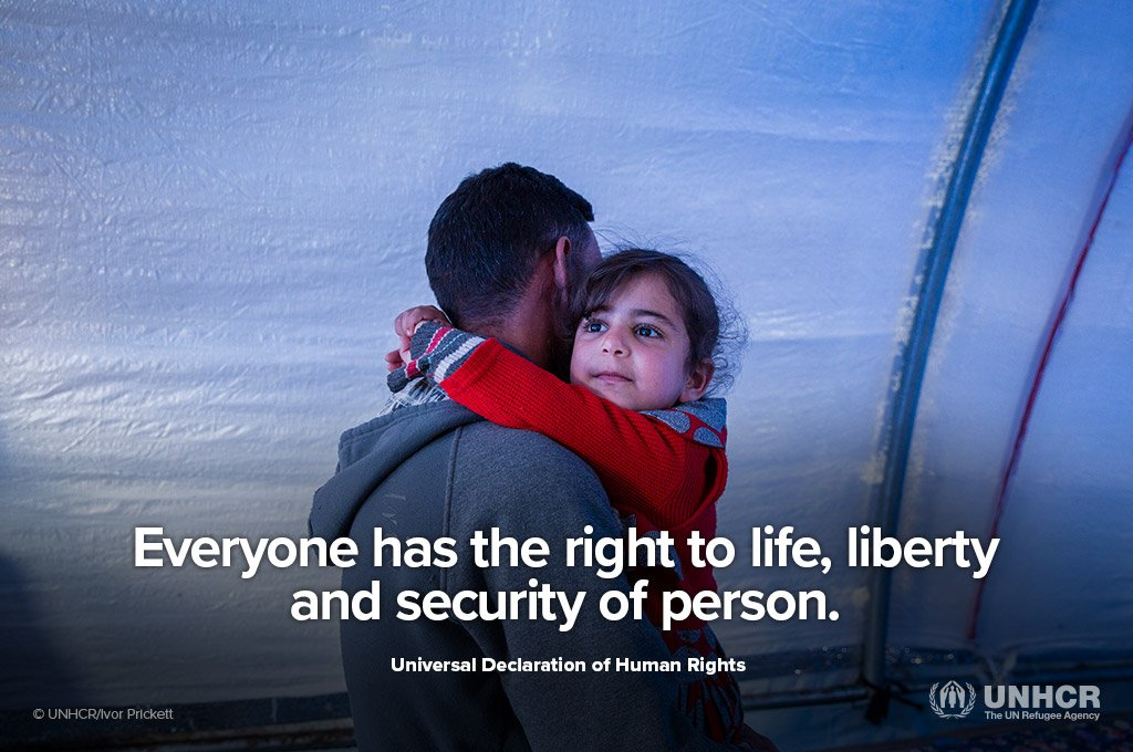 Everyone has the right to life and liberty.  Everyone has the right to freedom from fear.  Everyone has the right to seek asylum from persecution.  This #WorldRefugeeDay, stand #withrefugees.