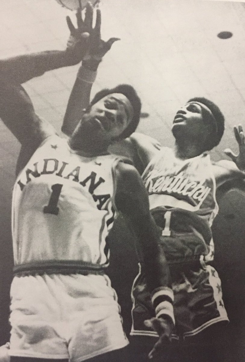 Our condolences go out to the family of 1972 Indiana Mr. Basketball and 2009 Indiana Basketball Hall of Fame (@HoopsHall) inductee Phil Cox who passed away today.  Here is a photo of Mr. Cox being fouled by Kentucky Mr. Basketball Jerry Thurston in the 1972 All-Star Game. <br>http://pic.twitter.com/1Jxlv6M92g