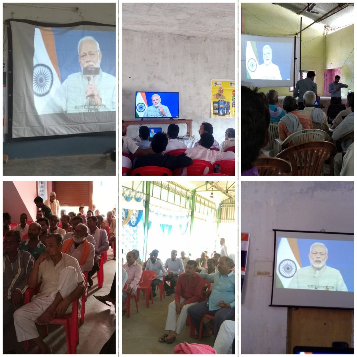 CSC VLEs made arrangements for live interactions with Hon. PM. Today every district in UP, this event is been arranged by more than 300 CSC with at least 50 farmers at each centre..@CSCegov_