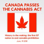 Image for the Tweet beginning: The Cannabis Act passes in