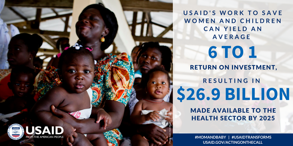 What can yield an average return on investment of 6 to 1 by 2025? Eliminating health system bottlenecks that impact #MomAndBaby. See how in @USAIDGH's new Acting on the Call report: https://t.co/hcgGs3PoNp #USAIDTransforms
