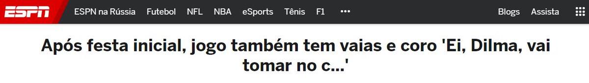 torcedores brasileiros vestidos com a camisa da CBF gritando palavras chulas para uma mulher. onde eu vi isso antes? 🤔