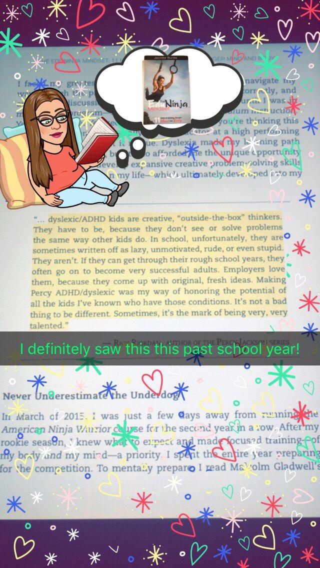 My first #BookSnaps! Reading #EduNinjaMindset among other things. @jennifer_burdis @TaraMartinEDU
