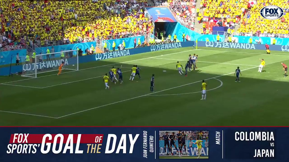 Why go over the wall when you can go under it?! Juan Quinteros free kick is our FIFA World Cup goal of the day.