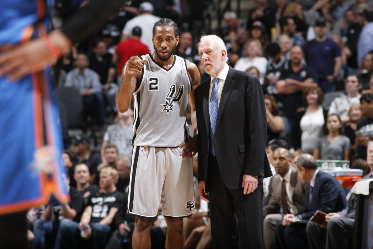 Gregg Popovich is traveling to Southern California to meet with Kawhi Leonard before NBA draft, per @wojespn