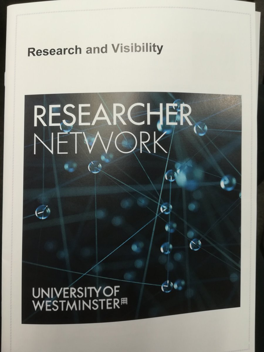I&#39;m at @UniWestminster today, speaking at this researcher network conference #researchvisibility @WestminsterCTI<br>http://pic.twitter.com/mLKxa2bYnY