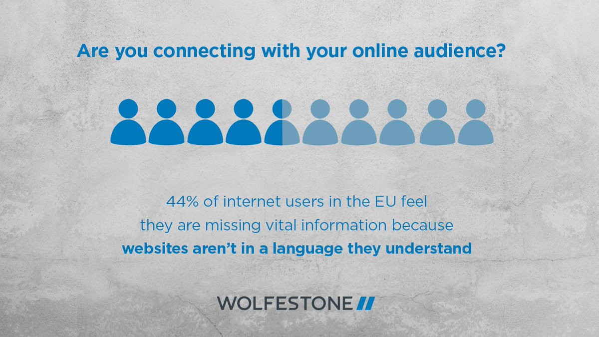 By getting your website translated you can ensure that the key points of your products and services are being understood as you intended. Visit us today to learn more about website translation!  https://buff.ly/2KPeRKt  #WebsiteTranslation #ConnectWithYourAudience