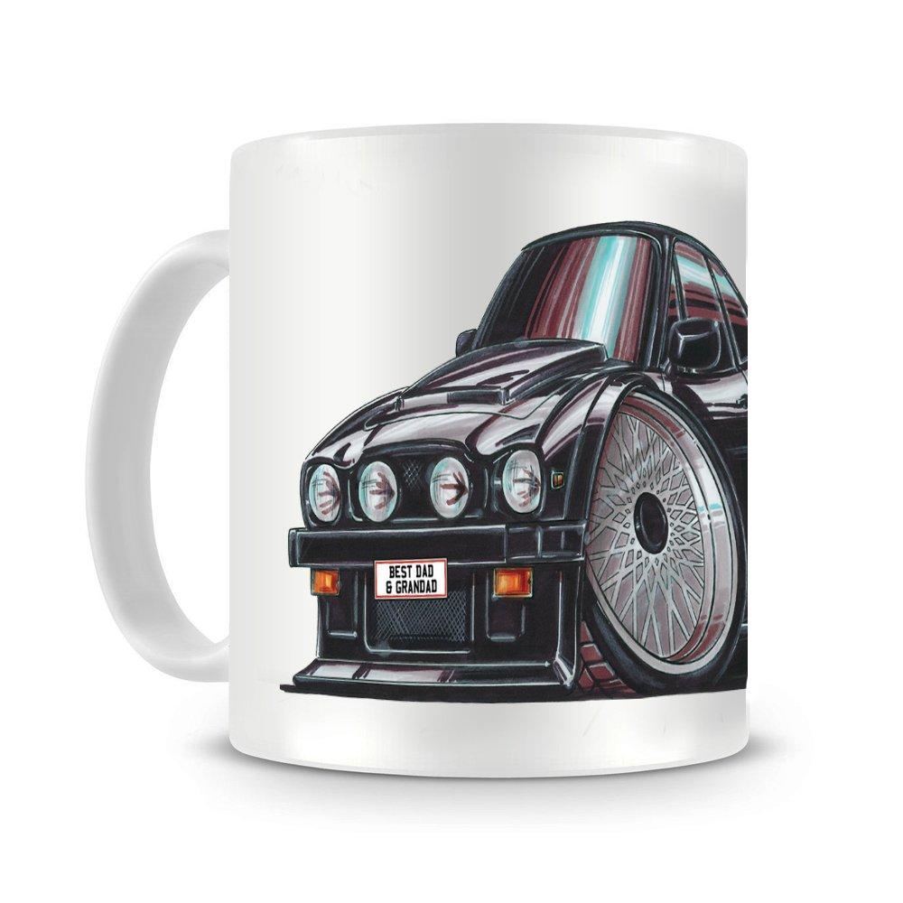 Koolart Caricature of Ford ESCORT WRC /'98 printed Mug coaster gift 254