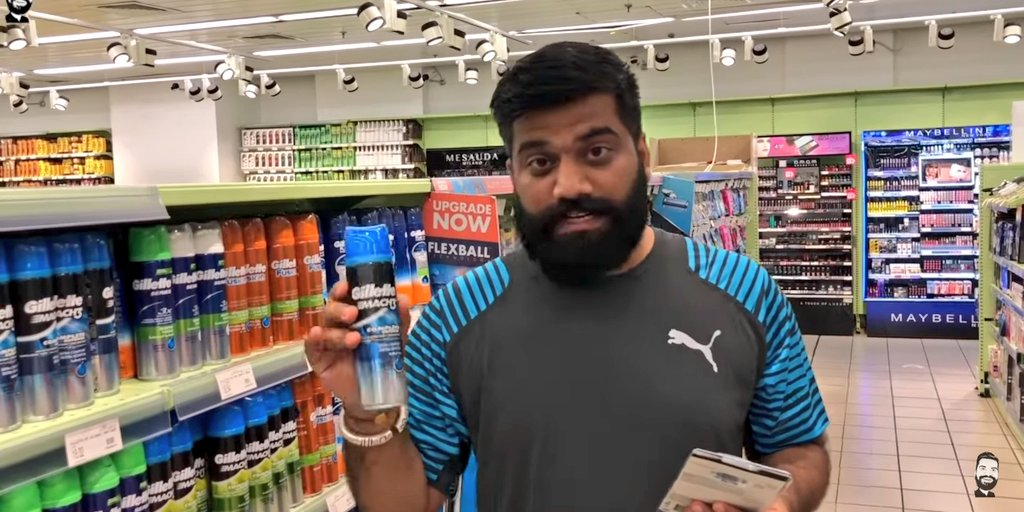 Finally he&#39;s gone do it Found the @Gillette logo @myntra  #EORSOnMyMind #OnePlus6 And all the best Guruji  Check the video for more details! <br>http://pic.twitter.com/k4xgoJxL0s