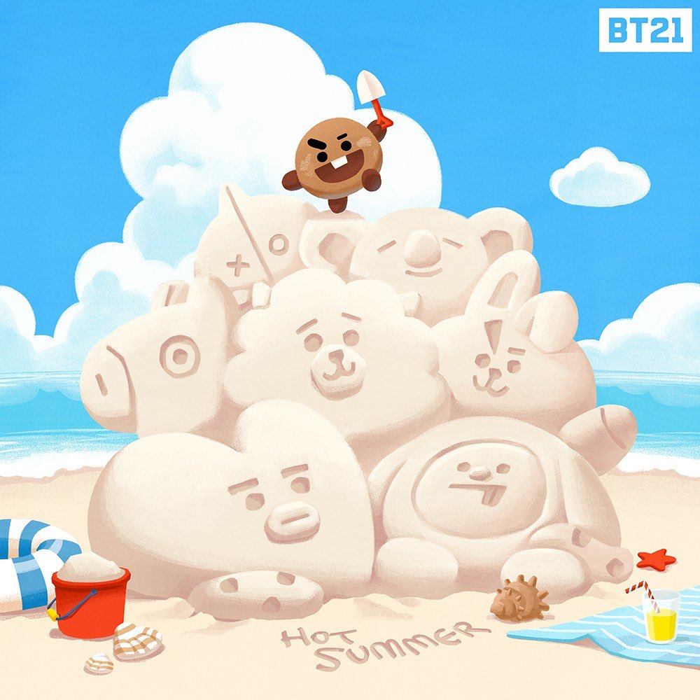 #SHOOKY 's BIG PICTURE #Lifesize #Sandcastle #Summer #BT21<br>http://pic.twitter.com/oYZPNmxOBp