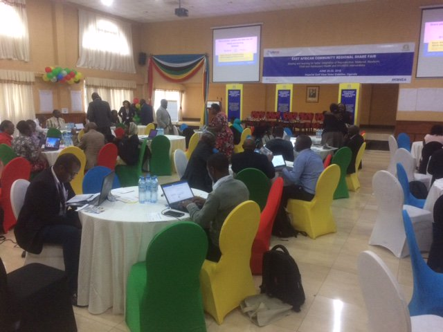 test Twitter Media - Stage is set for knowledge management, East African Community Regional Share Fair ,with health experts from across the region streaming @jumuiya @USAIDKenya @USAIDEastAfrica @USAIDGH @GHatState @K4Health here in #Uganda,Entebbe https://t.co/pgOEDiZuuH