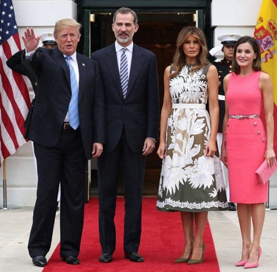 King Felipe and Queen Letizia of Spain visit the White House while on official visit to the United States Photo