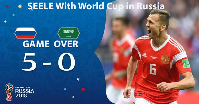 @SeeleTech #WorldCupWithSeele Cheryshev brought the Russian team in the 1/8 finals Foto