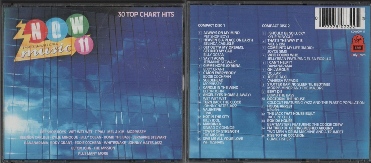 Now 11 - Released in March 1988  Artists included : Kylie Minogue, Mel &amp; Kim, Vanessa Paradis and T&#39;Pau.  Watch the promo ad here :  https://www. youtube.com/watch?v=ktwt77 7vAQ0 &nbsp; …   #80s #Now100<br>http://pic.twitter.com/wM84dQQ5NG