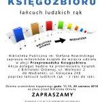 Image for the Tweet beginning: Łańcuch ludzkich rąk pełnych książek