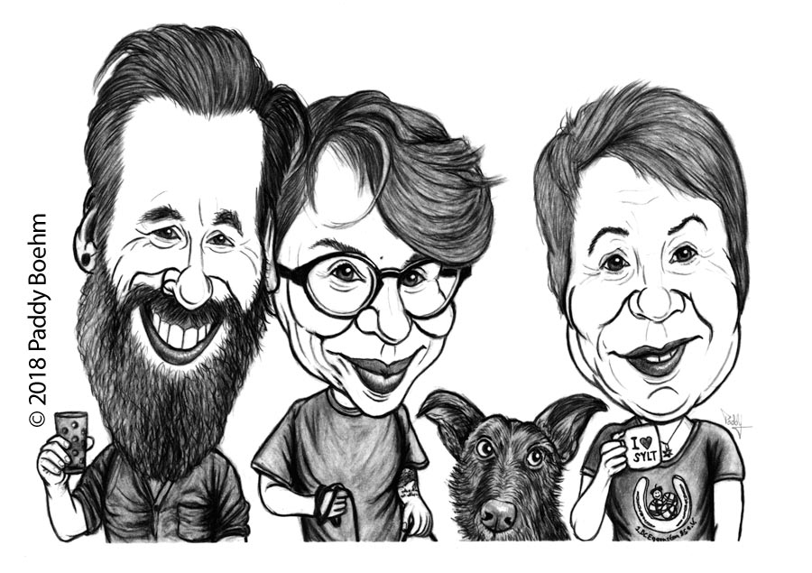 Paddy Boehm On Twitter Caricature For 70th Birthday Family Of The