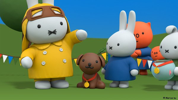 Hooray! Snuffy won!  Watch Miffy's Adventures on Tiny Pop at 6am and 7:30pm every day.