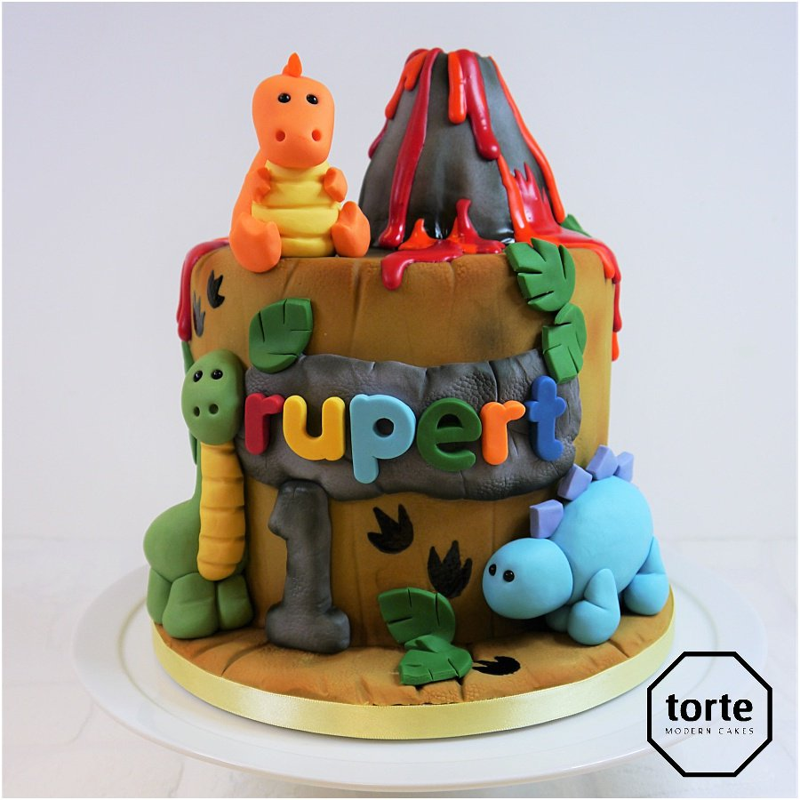 Torte Cakes Sheffield On Twitter Dino Volcano Birthday Cake For