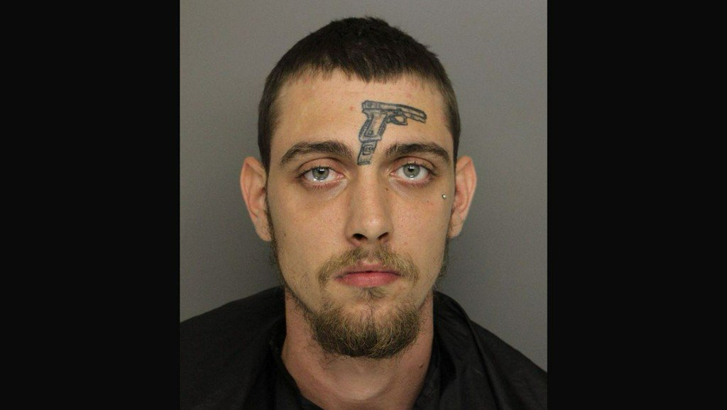Man with gun tattoo on forehead arrested on gun charge in Greenville, police say https://t.co/Psvf2ILDVf