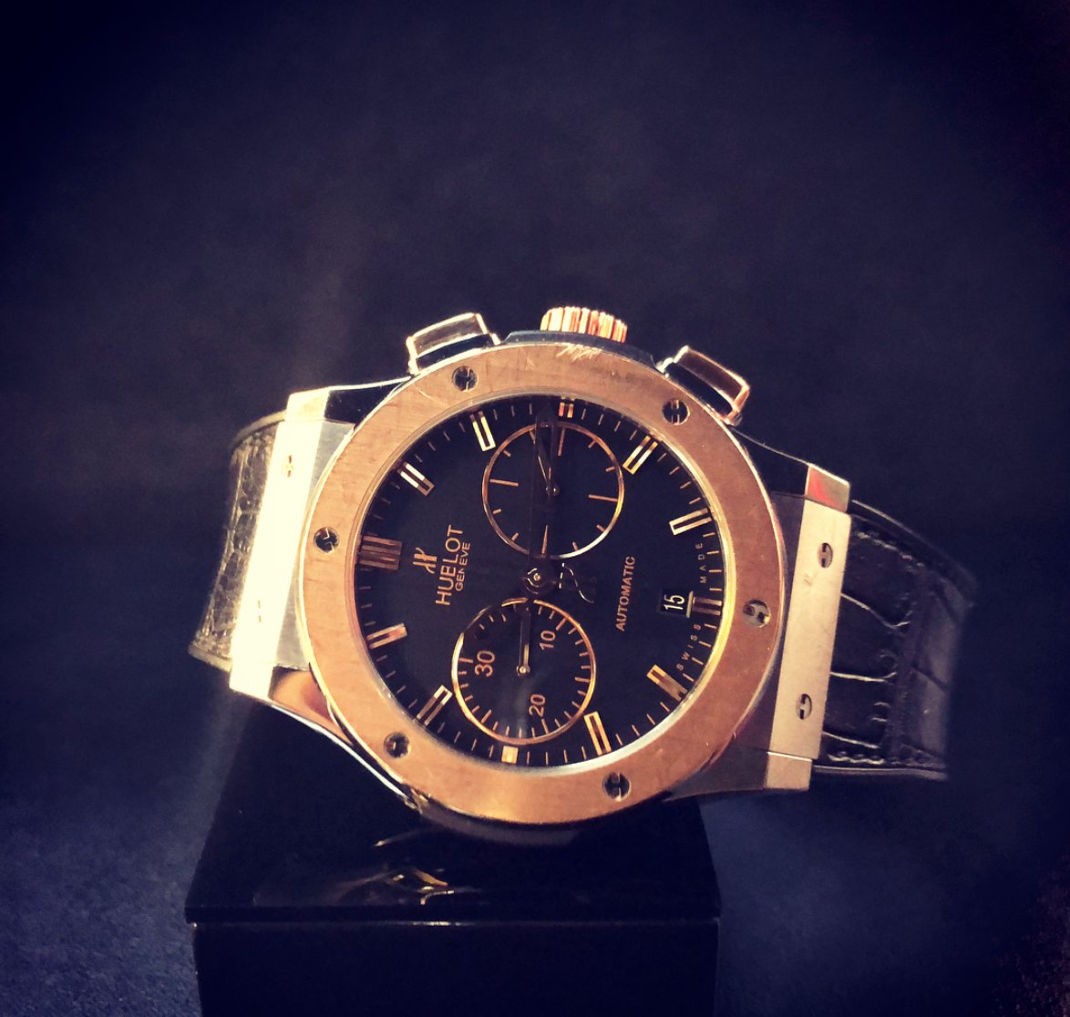 +7 ()  hublot classic fusion blue chronograph king gold.