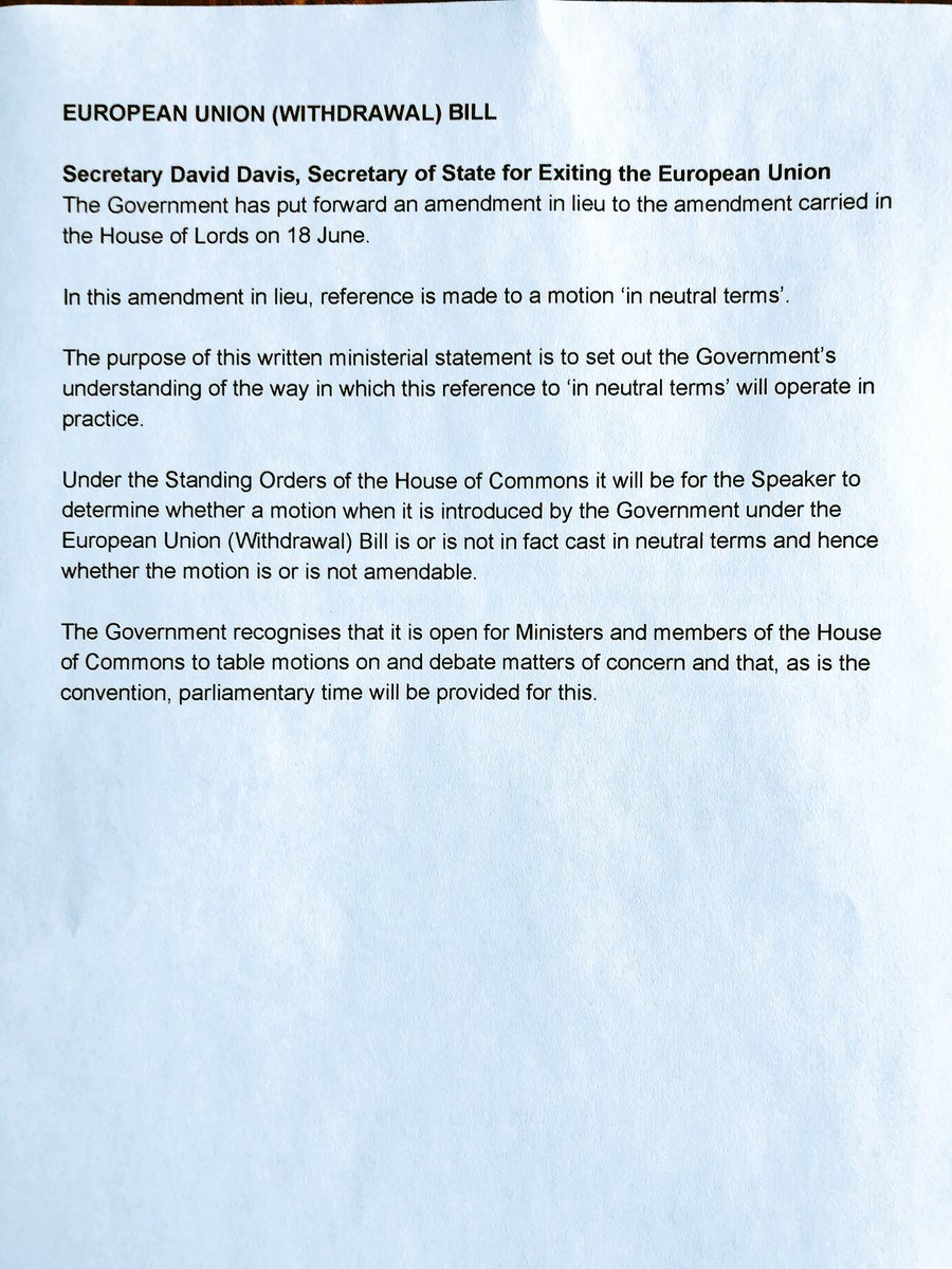 amendment of written statement