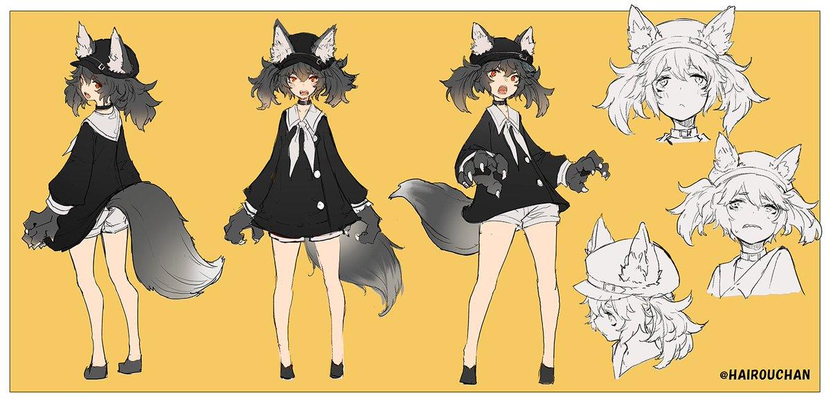 オリキャラの灰狼ちゃん 時間作ってモデリングしたい。