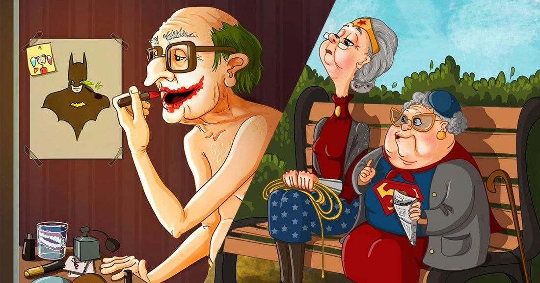 Quand les super-héros prennent un coup de vieux : 16 illustrations vraiment géniales https://t.co/TpS9RoRvqw