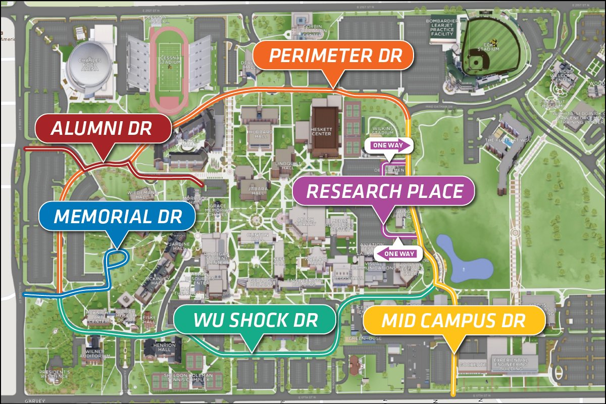 Wichita State On Twitter Check Out Our New Map Of All The