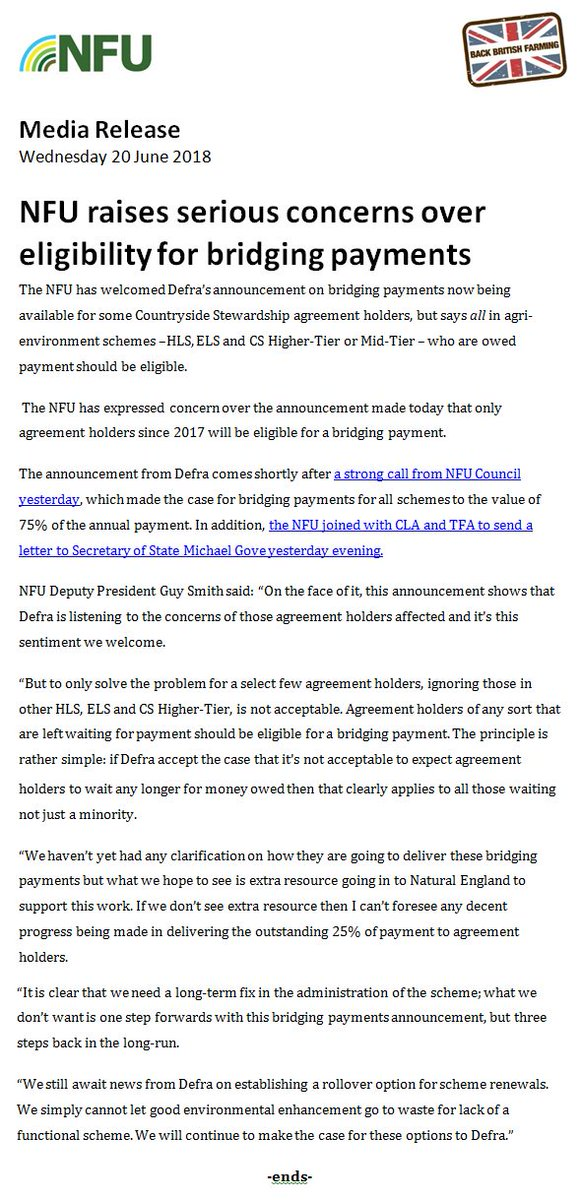 Nfu Press Team On Twitter Full Release Just Out In Reaction To