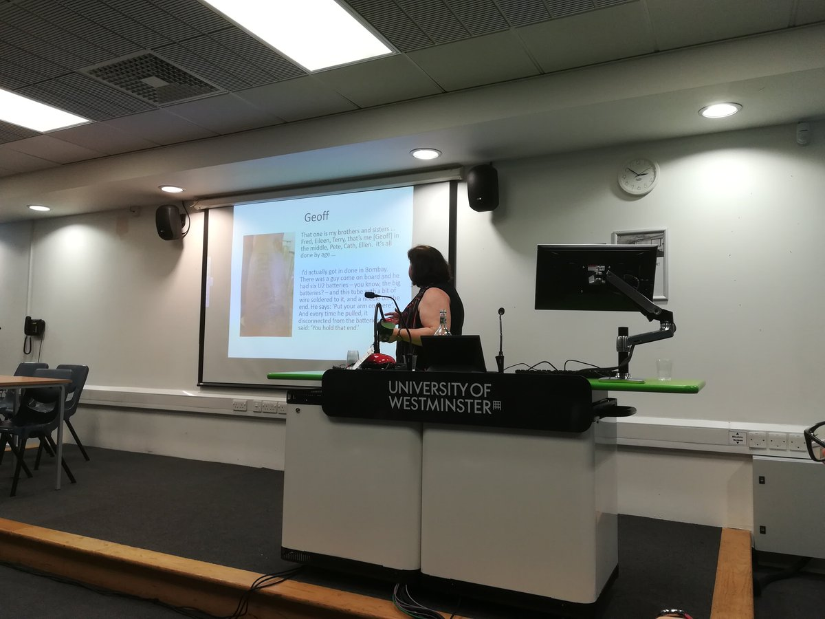 @lizcarnage talking about the histories fishermen inscribe on their bodies through tattoos. Wonderful talk, really moving. #researchernetwork #researchvisibility @UniWestminster<br>http://pic.twitter.com/vg3WX2d6en
